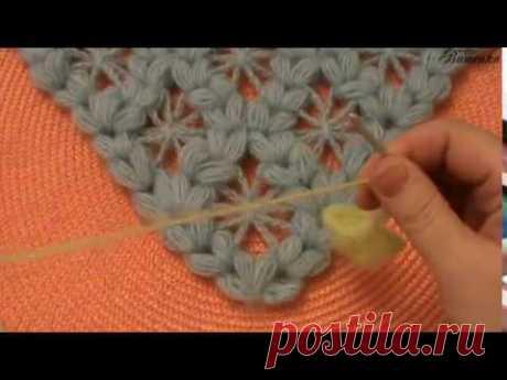 Вязание крючком бактуса пышными столбиками | Вязание крючком для начинающих