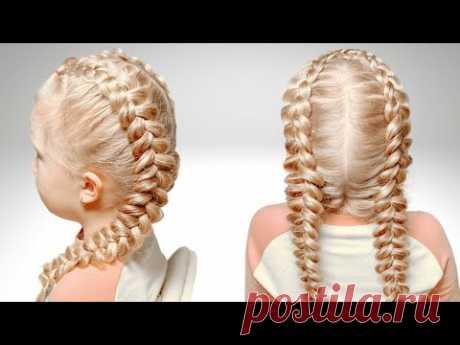 Французская коса   Простые косы своими руками - YouTube