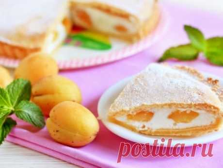 Пирог с абрикосами и белковой начинкой