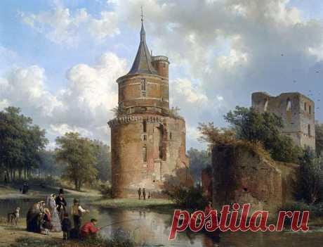 Города прошлого... Художник Корнелис Спрингер (Cornelis Springer, 1817-1891). Часть 1.