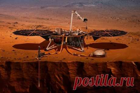 Как устроен подземный мир Марса: первые данные межпланетной станции InSight lander   Наука и технологии