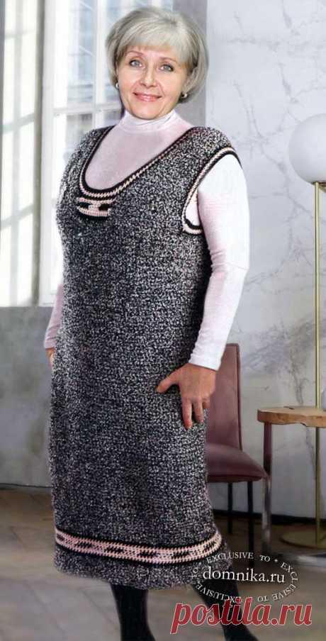 Вязаный сарафан 52 размера для женщин старше 60 лет своими руками