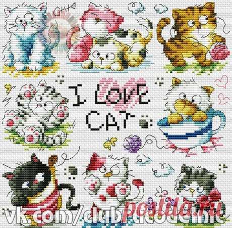 ДЕТСКАЯ ВЫШИВКА-I love cat