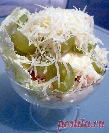 Салат «На ура!» Очень вкусный салат, всегда... / Еда и напитки / Салаты и закуски / Pinme.ru / Ольга Пак