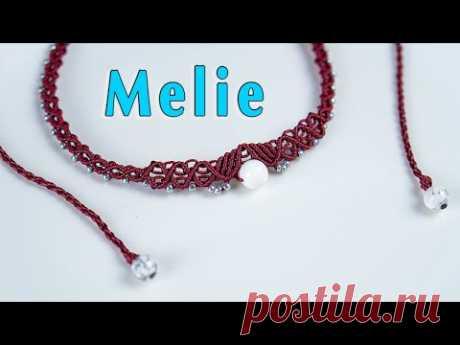 МК по изготовлению колье Melie, макраме
