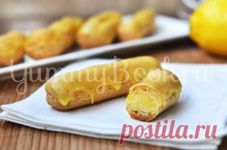 Эклеры с лимонным кремом - пошаговый рецепт с фото