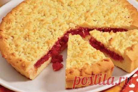 Песочный пирог с вареньем — Сад Заготовки