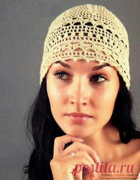 Летние шапочки для детей и взрослых, связанные своими руками крючком со схемами, описанием и фото.