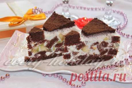 """Вкуснейший шоколадный торт """"Африканская Ромашка"""", в котором много крема и свежих фруктов..."""