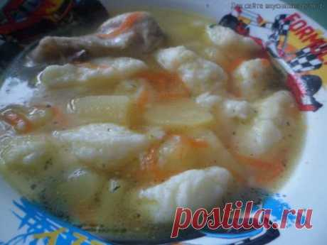 Суп с сырными клёцками - Готовим сами