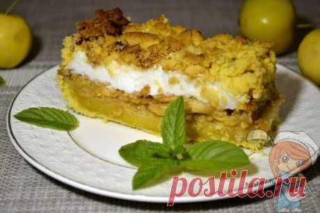 Безумно вкусный польский яблочный пирог со взбитыми белками и крошкой- Пошаговые фото рецепты без дрожжей, без муки, без мяса, без масла, без яиц Польский яблочный пирог нереально вкусный, нежный, сочный со слоем взбитых белков, пирог точно будет вашим фаворитом.
