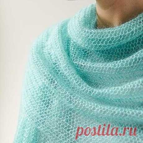 Невероятно простой, воздушный шарф (Вязание спицами) – Журнал Вдохновение Рукодельницы