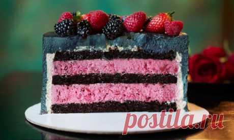 Шоколадно-вишневый торт   HomeBaked
