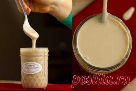 Как приготовить домашнее сгущенное молоко - рецепт, ингридиенты и фотографии