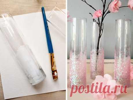 Нарядная зимняя ваза (Diy)