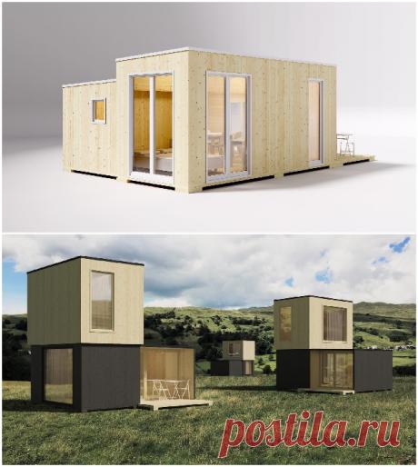 Складной домик, который можно распаковать и установить за 3 часа