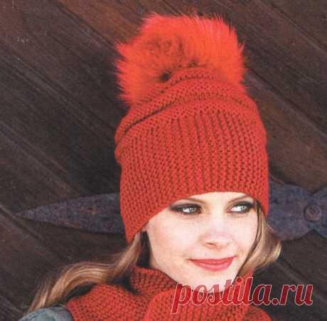 Для осени свяжем яркую красивую шапочку