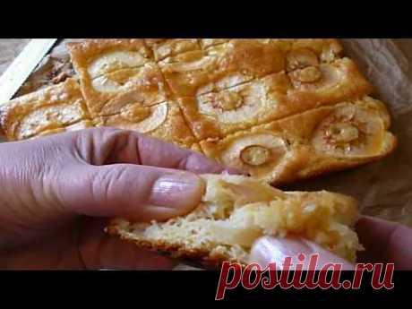 Бисквитный Яблочный  Пирог с Мандариновым Сиропом очень Нежный Вкусная Выпечка к чаю!