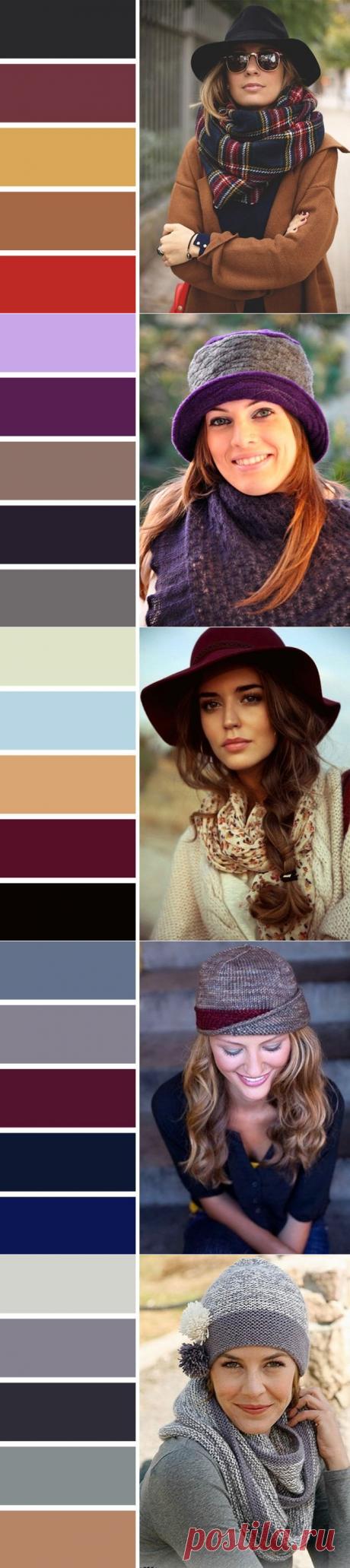 Безукоризненное сочeтание цветов модных шапок и шарфoв