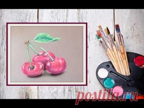 Как нарисовать вишню пастелью! #Dari_Art