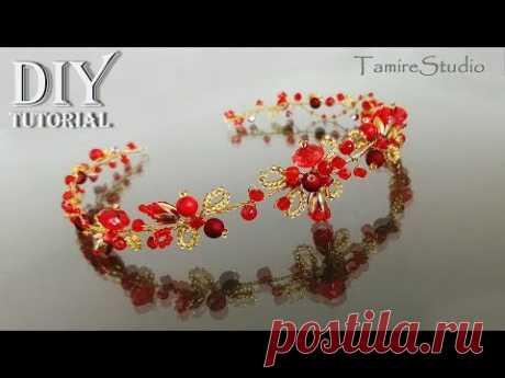 DIY Ideas Easy Tiara Crown with beads Tutorial Do it yourself/Тиара Корона сделай сам ✨TamireStudio✨