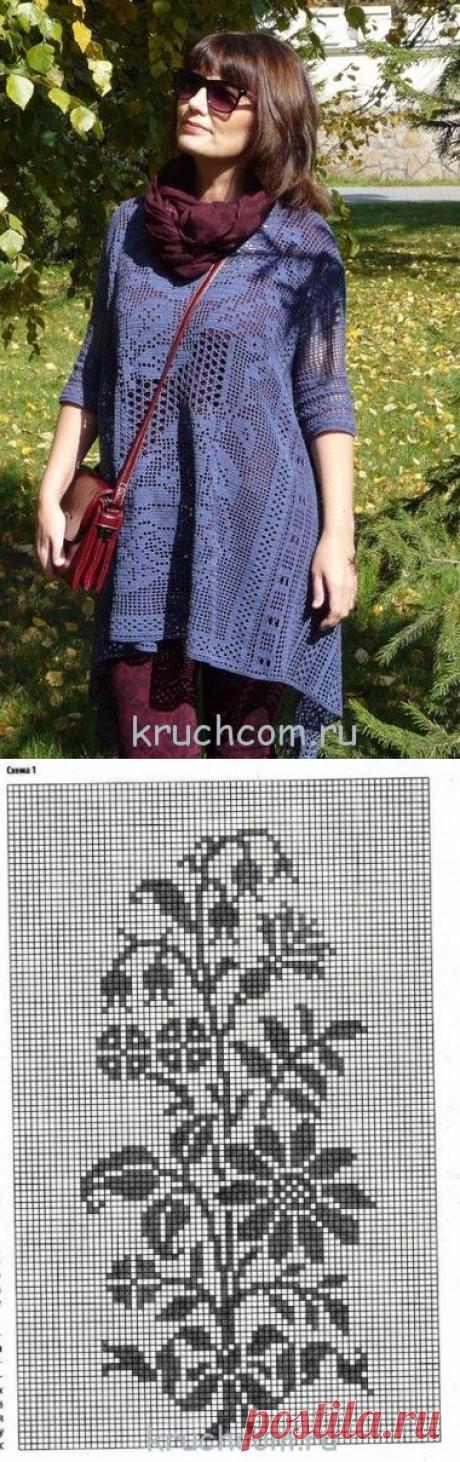 Вязанная крючком туника – классика стиля «бохо» – Kruchcom.ru