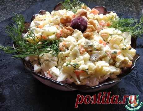 Салат из цветной капусты – капуста, яйцо, морковь, соленый огурец
