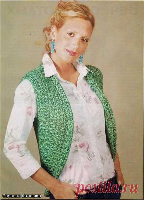 CARAMELO DE CROCHET: bolero verde