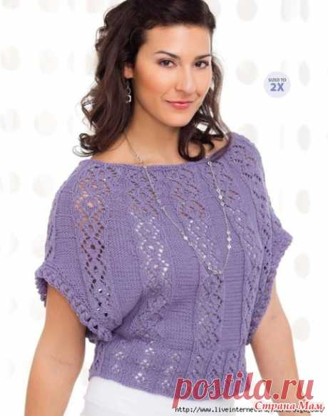 """Knitted openwork jacket \""""Lavender Sails\"""". - KNITTED FASHION + FOR NOT MODEL LADIES - the Country of Mothers"""