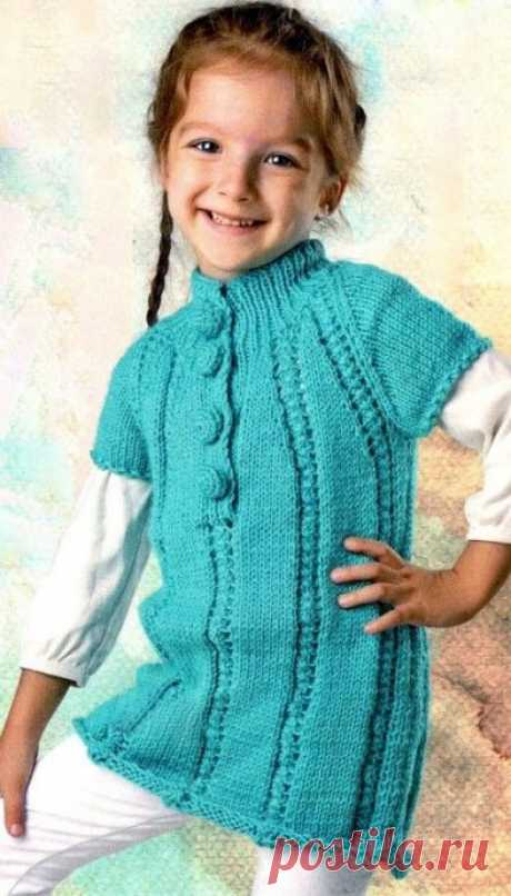 Turquoise tunic for the girl