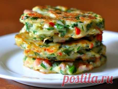 Potato pancakes with bacon, or hash browns in Korean - Simple recipes of Овкусе.ру