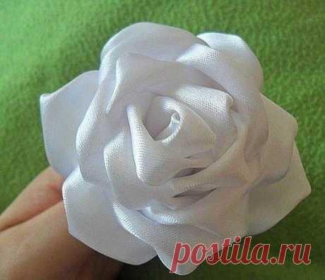 Роза. Цветы из ткани.