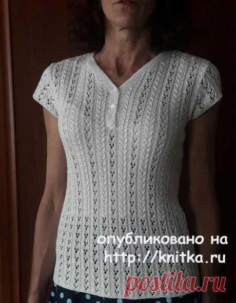 La blusa chiné por los rayos. El trabajo de Marina Efimenko, la Labor de punto para las mujeres