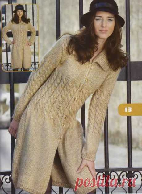 Вязание спицами для женщин Пальто