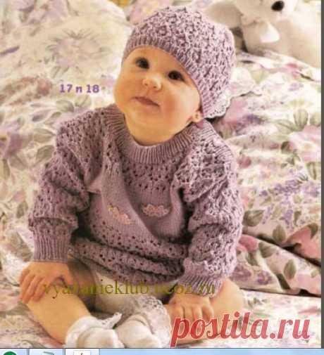 Пуловер и шапочка - Для детей до 3 лет - Каталог файлов - Вязание для детей
