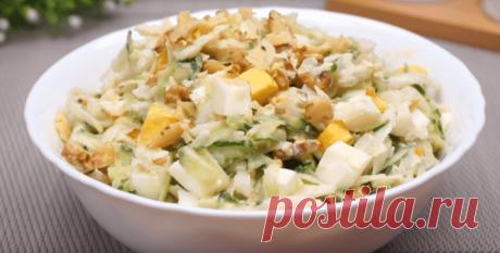 Салат с огурцом и дайконом - рецепт с фото пошагово