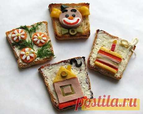 Бутерброды на детский день рождения (с фото) | ДЕТСКИЕ РЕЦЕПТЫ, БЛЮДА