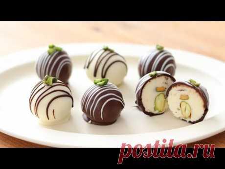 バレンタインチョコ*クリームチーズ・チョコトリュフの作り方&ラッピング Cream Cheese Chocolate Truffle|HidaMari Cooking