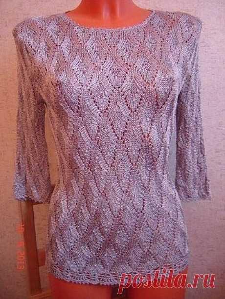 Интересный узор для пуловера, вяжем спицами из категории Интересные идеи – Вязаные идеи, идеи для вязания