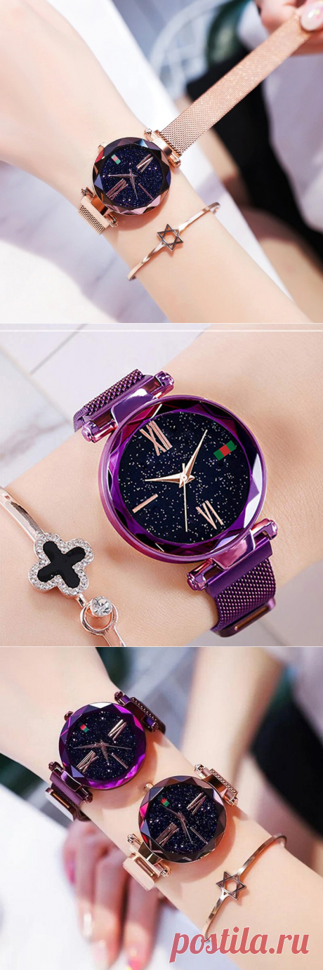 Купить - Женские часы Starry Sky Watch Часы Starry Sky Watch – это воплощение изысканности и элегантности. Они предназначены для модниц, стремящихся безупречно одеваться и носить стильные аксессуары. Часы данного бренда отличаются точностью и надежностью.Уникальный высокоточный кварцевый механизм побеспокоится о том, чтобы его владелица никогда и никуда не опаздывала. Уникальный магнитный ремешок позволяет с легкостью одевать часы, мода зима 2020-2021 пуловеры из мохера спицами
