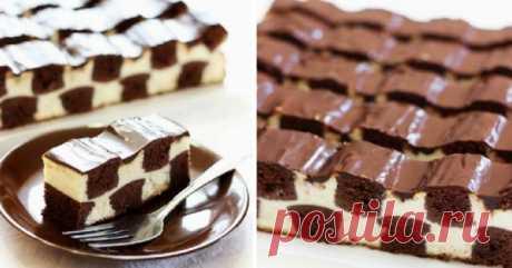 Шахматный торт. Этот десерт порадует желудок и повысит настроение