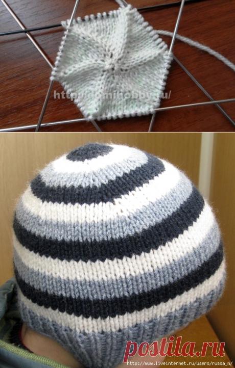 Новый простой способ вязания шапочки-ВКРУГОВУЮ С МАКУШКИ.