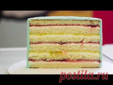 ПРОСТОЙ ТОРТ НА ВСЕ СЛУЧАИ ЖИЗНИ. Рецепт торта с клубникой. Вкусный торт на день рождения.