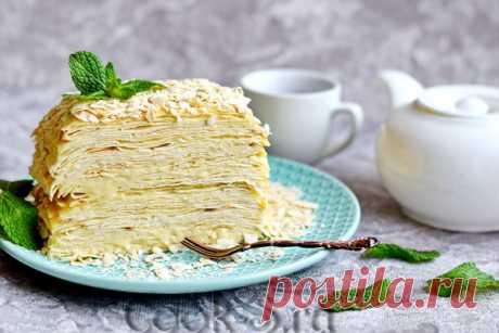 Торт Наполеон из лаваша – пошаговый рецепт с фото