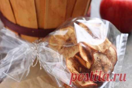Яблочные чипсы без сахара с корицей