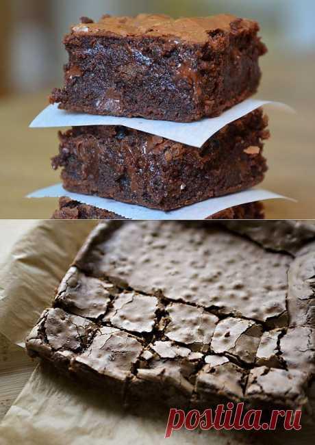 Рецепт Шоколадный пирог Брауни с грецкими орехами с фото в домашних условиях