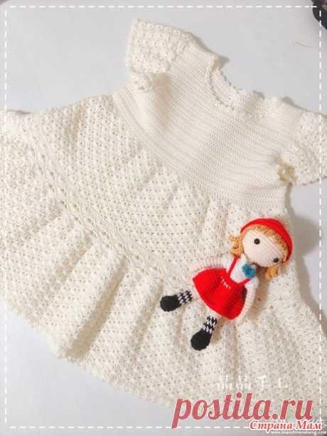 Белое платье для девочки - Все в ажуре... (вязание крючком) - Страна Мам