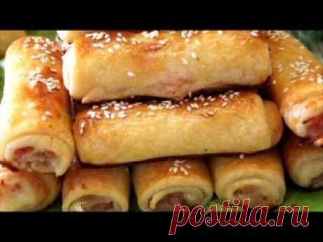 Fast snack tubules. This Good decision for fast snack for picnic, a breakfast or a dinner. The stuffing can be various on your taste. Prepare...