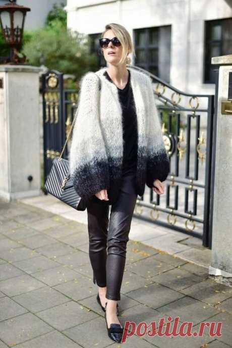 Подборка стильных кардиганов и свитеров, связанных из мохера | Только handmade | Яндекс Дзен