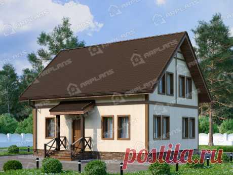 Проект бюджетного дома из газобетона 130 кв м с мансардой и 3 спальнями